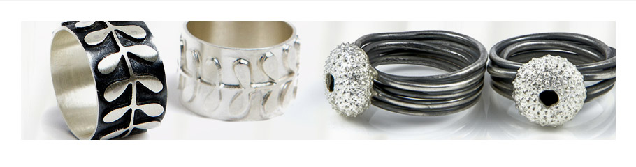 Handcrafted rings made by Becky Morgan Jewellery